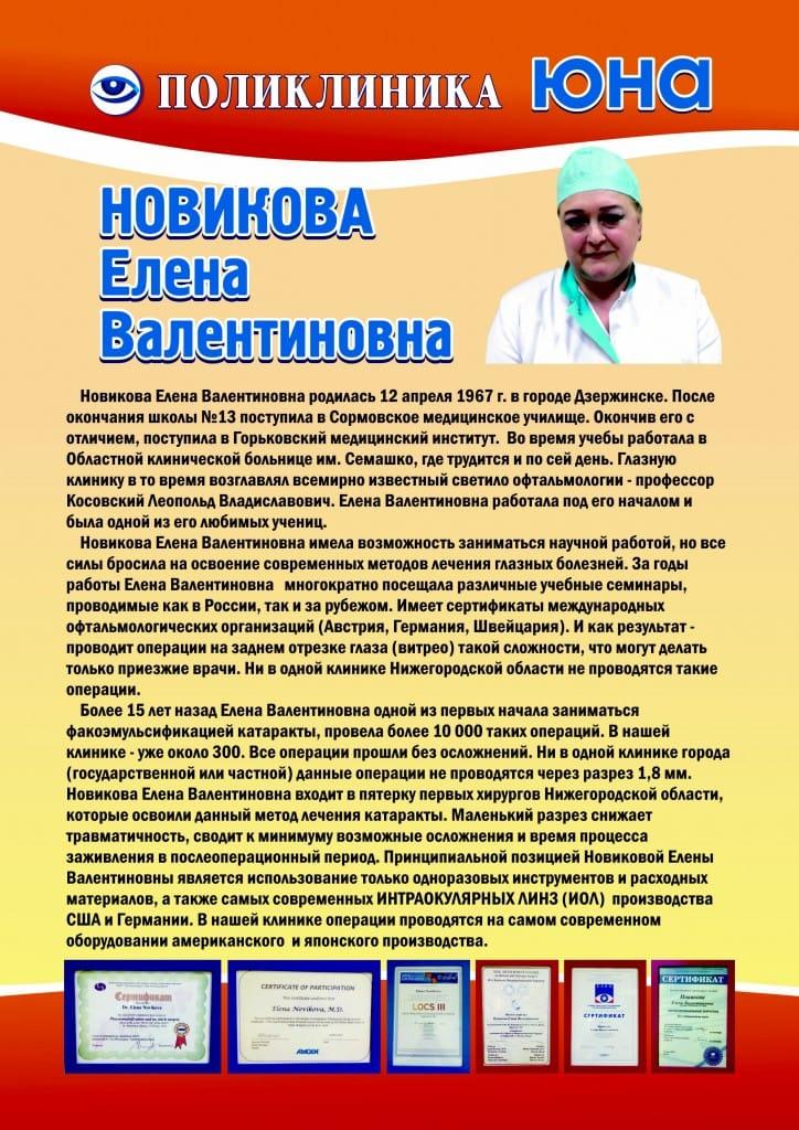 Новикова Елена Валентиновна